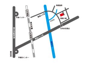 馬頭工場周辺の略地図